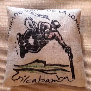 """Kaffeesack Bezug """"EISHOCKEY"""", ca.50 x 50 cm Bild 1"""