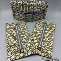 Täschchen mit Reißverschluss im Retrodesign, super für ergonomische Masken geeignet Bild 2