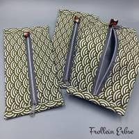 Täschchen mit Reißverschluss im Retrodesign, super für ergonomische Masken geeignet Bild 3
