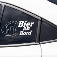 """Autoaufkleber """"Bier an Bord"""" - lustiger Sticker für das Auto Bild 1"""