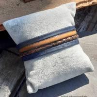 Armband Leder und Kork in Blau und Braun Bild 3