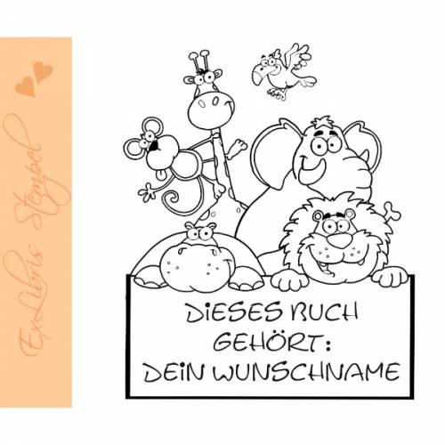 Exlibris Stempel - Ex Libris Stempel für Kinder - Exlibrisstempel Kinder - Bücherstempel Kinder No.exl-10318