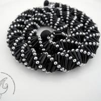 Collier schwarz silber auffallend schön Bild 1