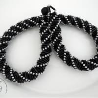 Collier schwarz silber auffallend schön Bild 3