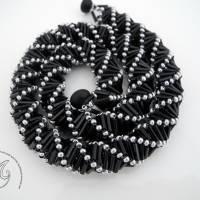 Collier schwarz silber auffallend schön Bild 5