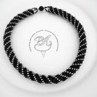 Collier schwarz silber auffallend schön Bild 6