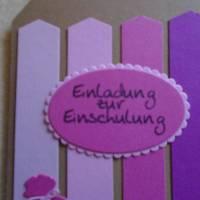 Einladungskarten Einschulung ,Schulanfang,Einladungkarte,Einladung, Mädchen,Schule, Stiftkarte,Rosa,Pink.Karte Bild 4