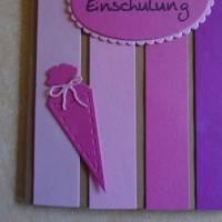 Einladungskarten Einschulung ,Schulanfang,Einladungkarte,Einladung, Mädchen,Schule, Stiftkarte,Rosa,Pink.Karte Bild 5
