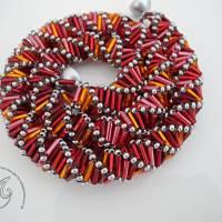 Collier Rot Orange auffallend schön Bild 1