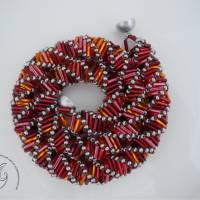 Collier Rot Orange auffallend schön Bild 2