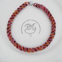 Collier Rot Orange auffallend schön Bild 4