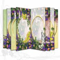 DIY Grafik-Set Digitales Papier für Signaturen für Junk-Journals, *Garden003-Sommersehnsucht*, entworfen von Alanja Bild 1