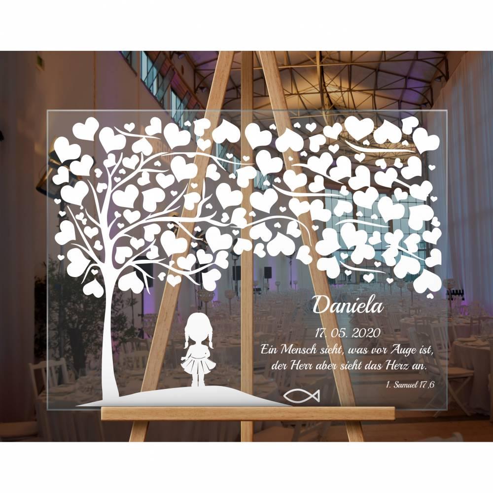 Acrylglasschild Taufgeschenk, Gästebuch, Willkommensschilder Gästebuch aus Acrylglas Bild 1