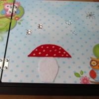 Babyalbum aus Holz mit integrierter Box Bild 1