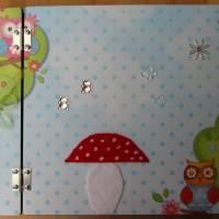 Babyalbum aus Holz mit integrierter Box Bild 2
