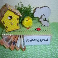Geldgeschenk-Ostern-Geburtstag, Frühlingslandschaft auf einer Holz-Palette Bild 2