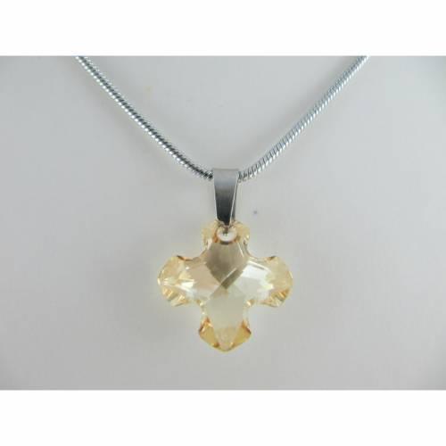 Kette Griechisches Kreuz Crystal Golden Shadow (644)