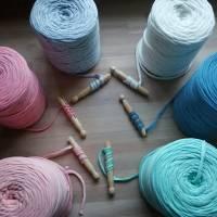 Jerseygarn, Textilgarn, Jerseynudel, verschiedene Farben Bild 1