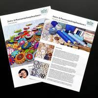 Komplettpaket Anleitungen: 20 Faltblätter zur Zwirn- und Posamentenknopfmacherei Bild 2