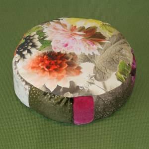 Meditationskissen, Yogakissen, 32 cm, ca. 10 cm hoch, mit Dinkelspelz Bild 1