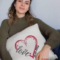 Kissen mit Wunschdatum zum Jahrestag/ Valentinstag Bild 2