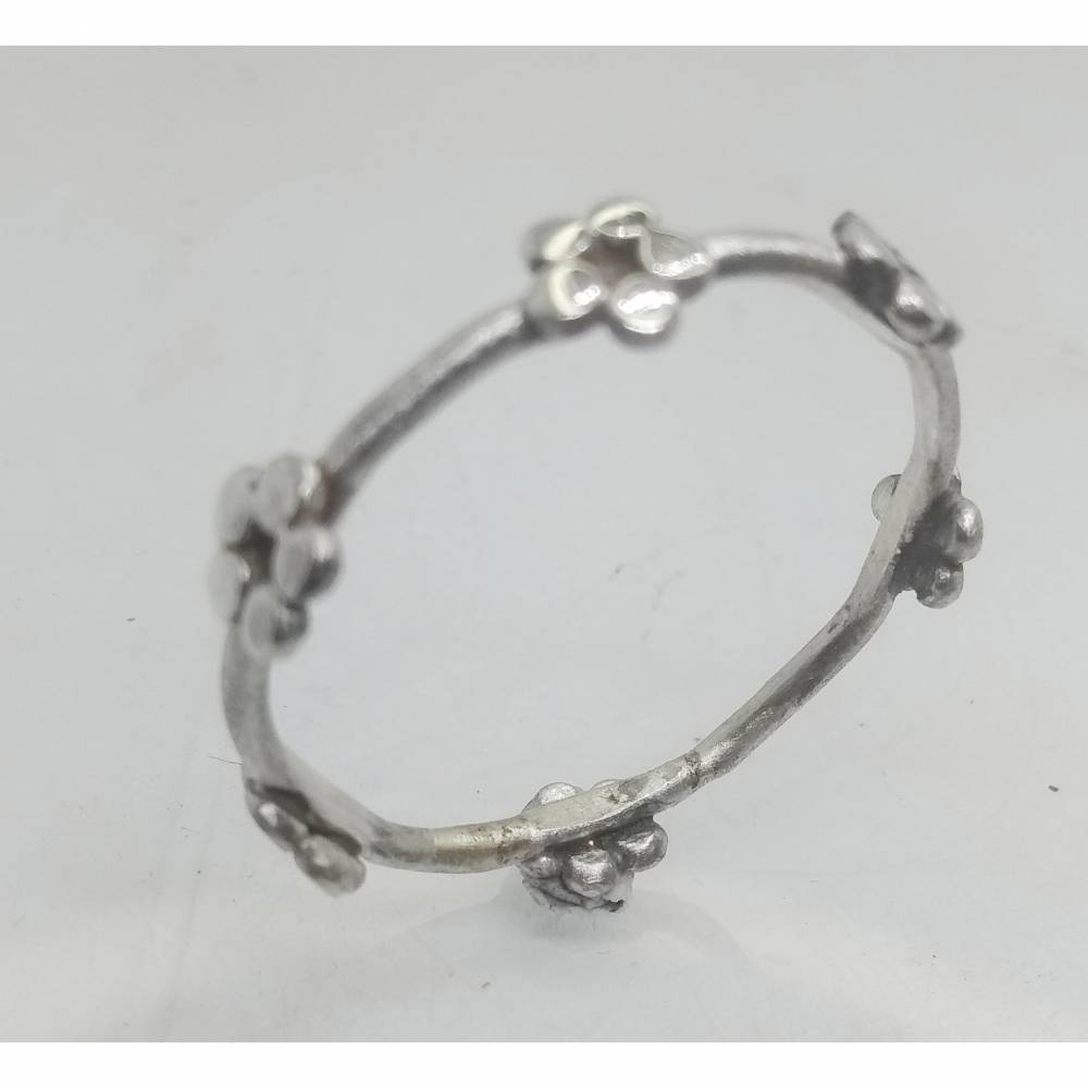 Blümchen Ring  - Ring aus Sterlingsilber Bild 1