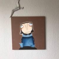 Anne-Gret Serwuschok kocht frische Braunbärsoße Acrylbild lacaluna Portrait Gemälde Malerei Kunst Bild 3