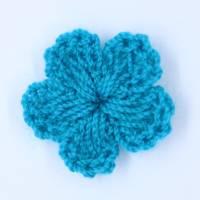 20mm Häkelblume - gehäkelte Blume - Aufnäher  Bild 1