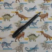12,90 EUR/m Stoff Baumwolle - Jurassic World, Dinos bunt auf weiß, Kinderstoff, Lizenzstoff Bild 7
