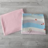 Stoffpaket Jersey mit Feen / uni rosa 2 x 50cm VB Bild 1