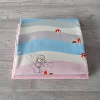 Stoffpaket Jersey mit Feen / uni rosa 2 x 50cm VB Bild 4