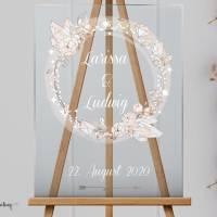 Acrylglasschild Hochzeitsgeschenk, Gästebuch, Willkommensschilder Hochzeitsbaum aus Acrylglas Bild 2