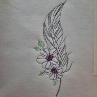 Feder mit Blume Bild 2