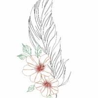 Feder mit Blume Bild 6