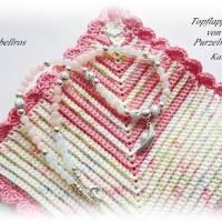 Kurze Kette mit Metallanhänger Papierschiffchen - Halskette,Edelstein,verspielt,modern,rosa,weiß Bild 5