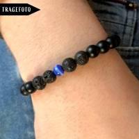 Black is Beautiful - Surfer-Armband aus Jadeperlen Bild 2