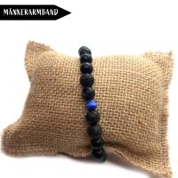 Black is Beautiful - Surfer-Armband aus Jadeperlen Bild 3