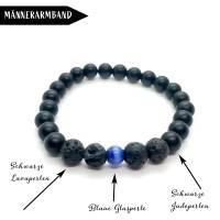 Black is Beautiful - Surfer-Armband aus Jadeperlen Bild 4
