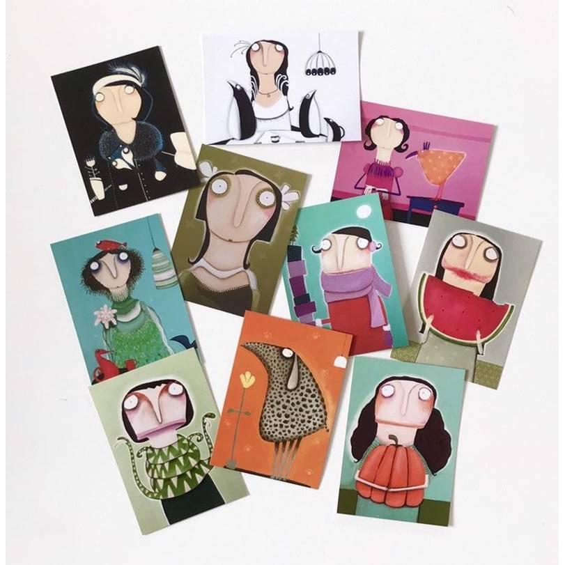 Postkarten im 10er Set! Kunstpostkarten. b Bild 1