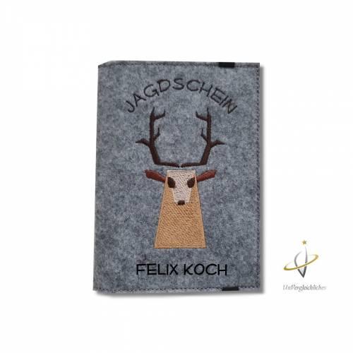 Jagscheinhülle Hülle für den Jagdschein WBK Hirsch Rehbock