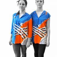 lange farbige Bluse mit 3/4 Arm, Russischer Konstruktivismus Bild 7