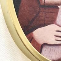 Das Mädchen mit dem Hermelin, Druck auf Tapete lacaluna im Ananas-Rahmen Bild 2