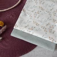 Stoffpaket Jersey Weidenzweige / mint meliert 2 x 50cm VB Bild 1