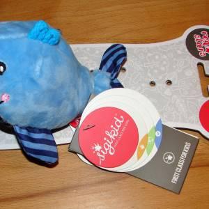 Windeltorte Wal für Junge, im Aufbewahrungskorb mit Name personalisiert Bild 4