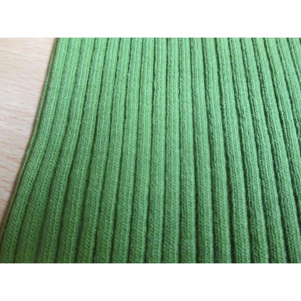 Bund Grobstrick-Bündchen Schlauchware grün (1m/12,-€) Bild 1