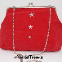 Bügeltasche rot / Handtasche / Umhängetasche / Abendtasche / Schultertasche Bild 1