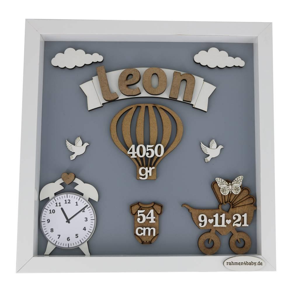 personalisierter 3D-Rahmen zur Geburt, Geschenk zur Geburt, Taufgeschenk, Babyrahmen, Geschenk zur Taufe, Taufgeschenk,  Bild 1