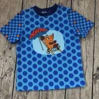 sommerliches T-shirt gr.110/116 Maus Punkte Bild 1