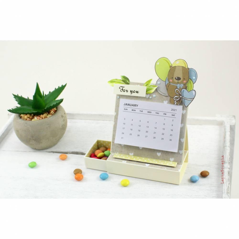 Mini Tischkalender 2021 für Freunde oder einfach so, Mitbringsel, Kalender, Geburtstagsgeschenk Bild 1