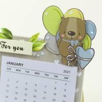Mini Tischkalender 2021 für Freunde oder einfach so, Mitbringsel, Kalender, Geburtstagsgeschenk Bild 3